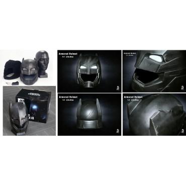 Dc Comics - Batman Vs. Superman D.O.J. - 1/1 SCALE Armored Batman Battle Damaged Helmet/Cowl - BreToys