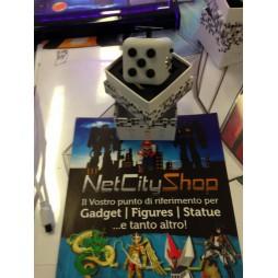Fidget - The Switch - Fidget Cube Clicker - Grigio Traslucido/Nero