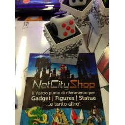 Fidget - The Switch - Fidget Cube Clicker - Grigio Traslucido/Nero Rosso