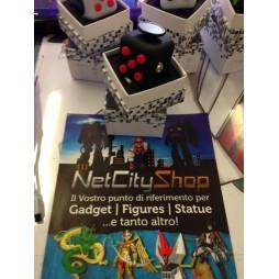 Fidget - The Switch - Fidget Cube Clicker - Nero/Nero Rosso