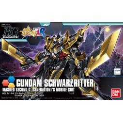 HG BUILD FIGHTERS 055 - Gundam Schwarzritter Masked Second Unit G (Generation)\'s Mobile Suit 1/144