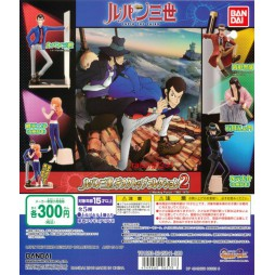 Lupin III The 3rd - The Italian Game - Desktop Collection Vol.2 - Bandai Gashapon Complete Set of 5 figures - Set Comple