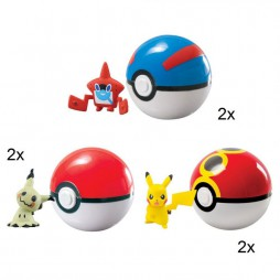 Pokemon - CLIP\' N CARRY WAVE D10 - Complete SET of 6 Figures