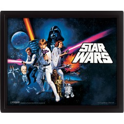Poster 3D Lenticolare - Star Wars - Ep.IV - Poster - A new Hope Cast Movie Poster