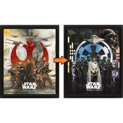 Poster 3D Lenticolare - Star Wars - Rogue One - Poster - Rogue One Rebel/Empire Transition Cast Movie Poster
