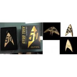 Star Trek - The Original Series - 50th Anniversary Magneteic Metallic Lapel Pin