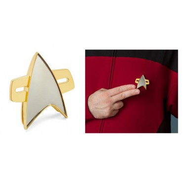 Star Trek - Voyager - Communicator Badge Pin - Bluetooth