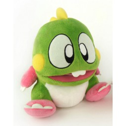 Video Games Plush - Bubble Bobble - TAITO - BUB - With Sound Effects - Peluche 20 cm