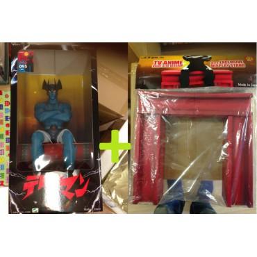 Devilman - Big Size Marmit Sculture 60cm By Jungle - Limited Edition Statue + Beam Seat - Blue Vers. - 95/100