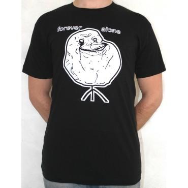 Facebook Memes - Forever Alone Black - T-shirt LARGE