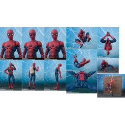 S.H. Figuarts Spider-Man Homecoming Spider-Man With Wall Diorama