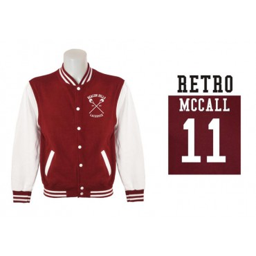 Teen Wolf - Beacon Hills Lacrosse College Sweater Jacket - Wolf 11 Teen McCall Taglia Large