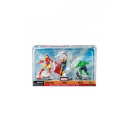 Marvel Comics - Iron Man - 3 Mini Figures Diorama - Iron Man Thor Holk
