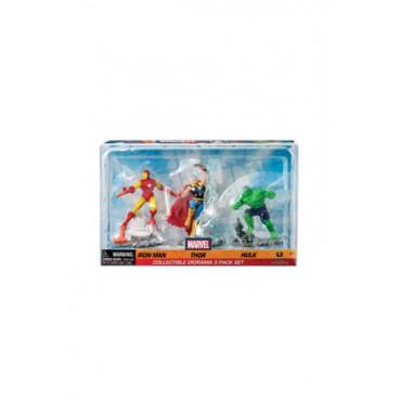 Marvel Comics - Iron Man - 3 Mini Figures Diorama - Iron Man Thor Holk
