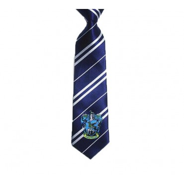 HARRY POTTER - Cravatta Corvo Nero - Blu With Revencrow Crest
