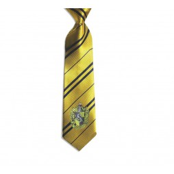 HARRY POTTER - Cravatta Tassorosso - Giallo - With Hufflepuff Crest