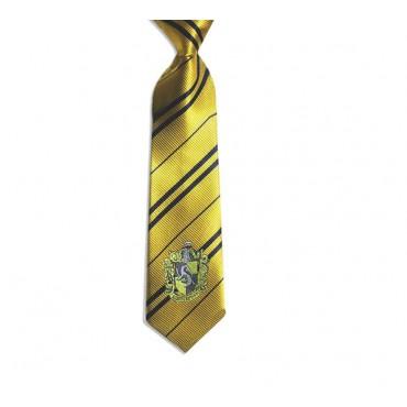 HARRY POTTER - Cravatta Tassorosso - Giallo - With Hufflepuff Crest