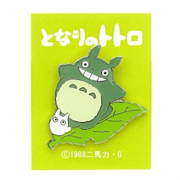Il mio Vicino Totoro - My Neighbour Totoro - Pin 2D - Metal - Spilla 2D Metallo - Totoro and Friend on Leaf