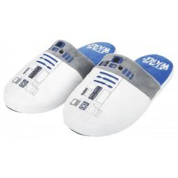 Star Wars - Pantofole - R2-D2 - Bianco Azzurro Taglia Unica