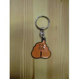 Dr Slump & Arale Chan - Keyring 2D - Metal - Portachiavi - Cacchetta Arancione