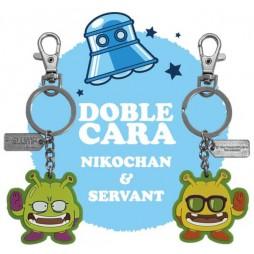 Dr Slump & Arale Chan - Keyring 2D - Rubber - Nikochan/Service - Portachiavi Gomma