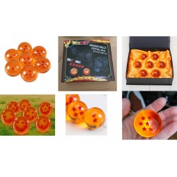 Dragon Ball Z - Sfere Del Drago - Orange Tag - 4,2 cm Diam. - Set dalla 1 alla 7 - Complete set of 7