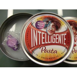 Thinking Putty - Pasta Intelligente - Ghiaccio Mistico, Fluorescente, Cambia Colore con Luce UV + Torcia UV