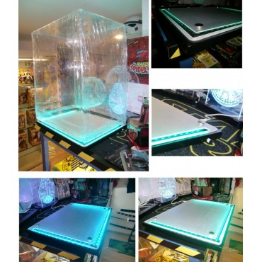 Display Case - Teca Su Misura - Remote Controlled Ambient Variable Light - 31Dx41Wx53H cm