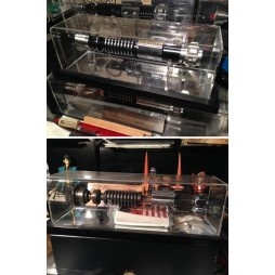 SW Lightsaber Hilt Display Case - Frame Base MR Style - Teca Per Spada Laser SW cornice sporgente