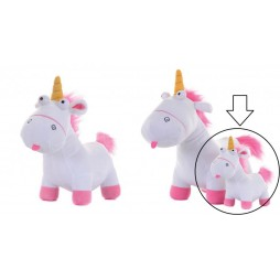 Cattivissimo Me Plush - Agnes So Fluffy Unicorn GRU Minion Plush SET - Peluche 30cm