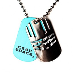 Video Games - Dead Space 3 - Collana - Double Dogtag Blue/Black