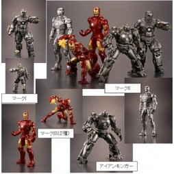 Iron Man - The Movies Collection - Gashapon Set - Complete 5 Figure - SET