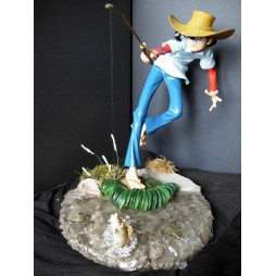 Tsurikichi Sanpei - Sampei Il Ragazzo Pescatore - Statua Diorama - Limited Edition - Resin Silicone - Fishing Sampei in