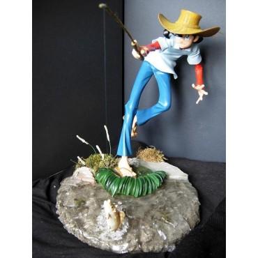 Tsurikichi Sanpei - Sampei Il Ragazzo Pescatore - Statua Diorama - Limited Edition - Resin Silicone - Fishing Sampei in
