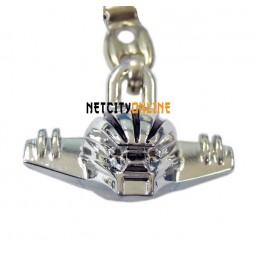 Kotetsu Jeeg - Jeeg Robot D'Acciaio -Testa Jeeg 3D - Metal Necklace - Collana Laccetto Con Ciondolo