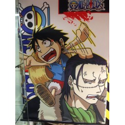 One Piece - Poster - Wall Scroll in Stoffa - Luffy and Sir Crocodile