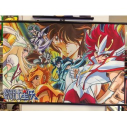 Saint Seiya - Omega - Complete Cast - Poster - Wall Scroll in Stoffa
