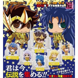 Saint Seiya - Petit Chara Land Saint Seiya Twelve Temples Vol.1 - Trading Figure SET - Complete set of 6 + 1 S.s.
