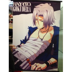 Tutor Hitman Reborn! - Poster - Wall Scroll in Stoffa - Hayato Gokudera