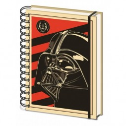 Star Wars - A5 Notebook - VADER On RED
