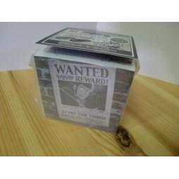 Lupin The 3rd - Lupin III - Lupin III Wanted Adv - Black and White - Bòocco per appunti formato cubo 7cm x7cm x7cm