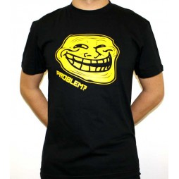 Facebook Memes - Troll Problem? Black - T-Shirt LARGE