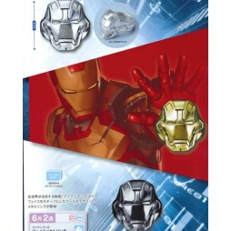 Marvel Comics - Iron Man 3 - Anello - Iron Man Face Mask Rings - SET