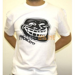 Facebook Memes - Troll Problem? Black/White - T-Shirt EXTRA LARGE