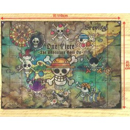 One Piece - Bandiera - Big Multi Cross 1 Mappa + Jolly Rogers