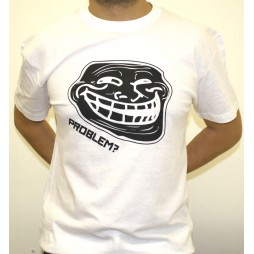 Facebook Memes - Troll Problem? Black/White - T-Shirt MEDIUM