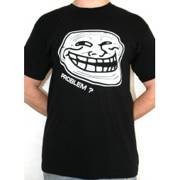 Facebook Memes - Troll Problem? White/Black - T-Shirt LARGE