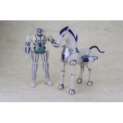 \'Uchu Gokin\' Kotetsu Jeeg and Pantheroid - DIE-CAST FULL-ACTION - White Limited Color Ver.
