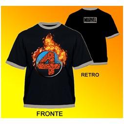 Fantastici 4 - Characters Logo Black - T-shirt EXTRA LARGE