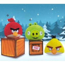 Angry Birds Plush - Doll SET - Peluche 21 cm